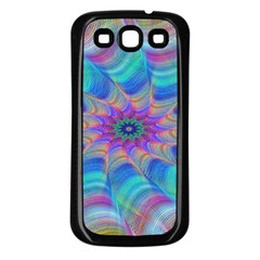 Fractal Curve Decor Twist Twirl Samsung Galaxy S3 Back Case (black)