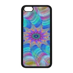 Fractal Curve Decor Twist Twirl Apple Iphone 5c Seamless Case (black)