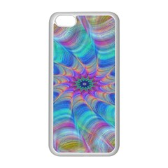 Fractal Curve Decor Twist Twirl Apple Iphone 5c Seamless Case (white)