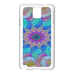Fractal Curve Decor Twist Twirl Samsung Galaxy Note 3 N9005 Case (white)