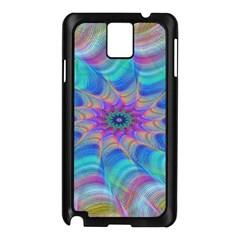 Fractal Curve Decor Twist Twirl Samsung Galaxy Note 3 N9005 Case (black)