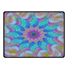 Fractal Curve Decor Twist Twirl Double Sided Fleece Blanket (small)