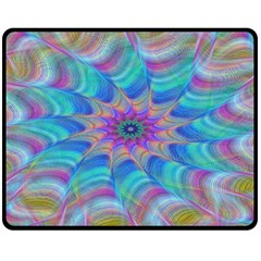 Fractal Curve Decor Twist Twirl Double Sided Fleece Blanket (medium)