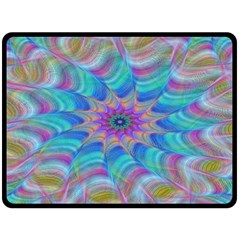 Fractal Curve Decor Twist Twirl Double Sided Fleece Blanket (large)