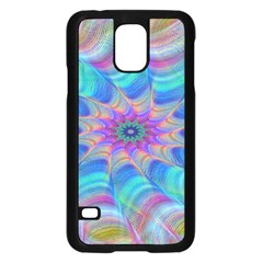 Fractal Curve Decor Twist Twirl Samsung Galaxy S5 Case (black)