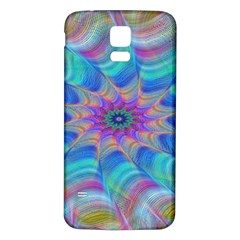 Fractal Curve Decor Twist Twirl Samsung Galaxy S5 Back Case (white)