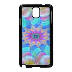 Fractal Curve Decor Twist Twirl Samsung Galaxy Note 3 Neo Hardshell Case (black)