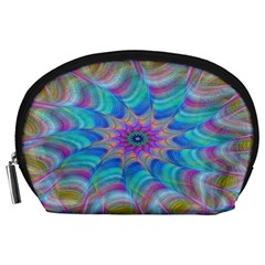 Fractal Curve Decor Twist Twirl Accessory Pouches (large)