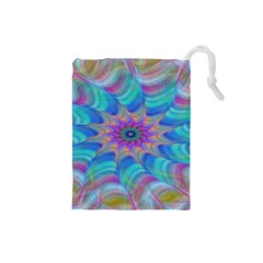 Fractal Curve Decor Twist Twirl Drawstring Pouches (small)