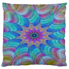 Fractal Curve Decor Twist Twirl Large Flano Cushion Case (one Side)