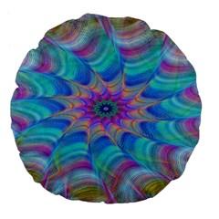 Fractal Curve Decor Twist Twirl Large 18  Premium Flano Round Cushions
