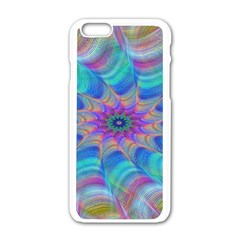 Fractal Curve Decor Twist Twirl Apple Iphone 6/6s White Enamel Case