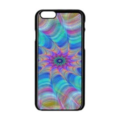 Fractal Curve Decor Twist Twirl Apple Iphone 6/6s Black Enamel Case