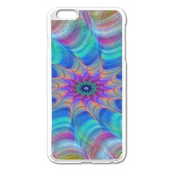 Fractal Curve Decor Twist Twirl Apple Iphone 6 Plus/6s Plus Enamel White Case
