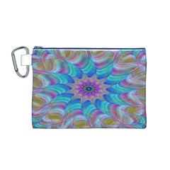 Fractal Curve Decor Twist Twirl Canvas Cosmetic Bag (m)