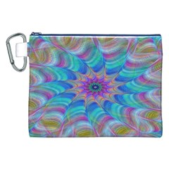 Fractal Curve Decor Twist Twirl Canvas Cosmetic Bag (xxl)