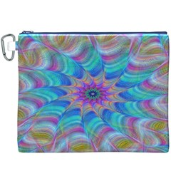 Fractal Curve Decor Twist Twirl Canvas Cosmetic Bag (xxxl)