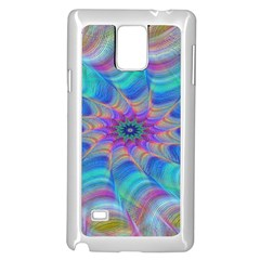 Fractal Curve Decor Twist Twirl Samsung Galaxy Note 4 Case (white)
