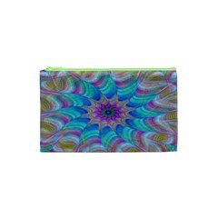 Fractal Curve Decor Twist Twirl Cosmetic Bag (xs)