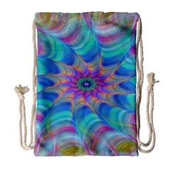 Fractal Curve Decor Twist Twirl Drawstring Bag (large)