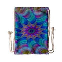 Fractal Curve Decor Twist Twirl Drawstring Bag (small)