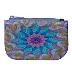 Fractal Curve Decor Twist Twirl Large Coin Purse
