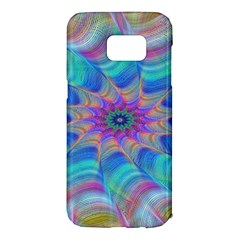 Fractal Curve Decor Twist Twirl Samsung Galaxy S7 Edge Hardshell Case