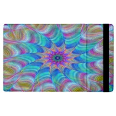 Fractal Curve Decor Twist Twirl Apple Ipad Pro 9 7   Flip Case
