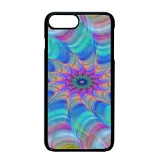 Fractal Curve Decor Twist Twirl Apple Iphone 7 Plus Seamless Case (black)