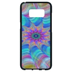 Fractal Curve Decor Twist Twirl Samsung Galaxy S8 Black Seamless Case