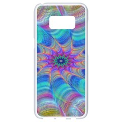 Fractal Curve Decor Twist Twirl Samsung Galaxy S8 White Seamless Case