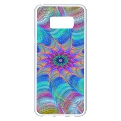 Fractal Curve Decor Twist Twirl Samsung Galaxy S8 Plus White Seamless Case