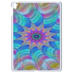 Fractal Curve Decor Twist Twirl Apple Ipad Pro 9 7   White Seamless Case