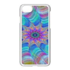 Fractal Curve Decor Twist Twirl Apple Iphone 8 Seamless Case (white)