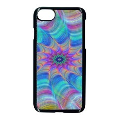 Fractal Curve Decor Twist Twirl Apple Iphone 8 Seamless Case (black)