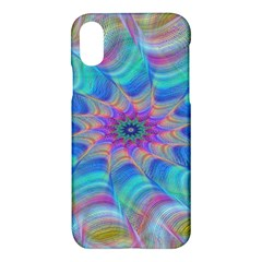 Fractal Curve Decor Twist Twirl Apple Iphone X Hardshell Case