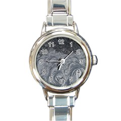 Abstract Art Decoration Design Round Italian Charm Watch
