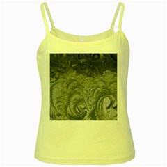 Abstract Art Decoration Design Yellow Spaghetti Tank