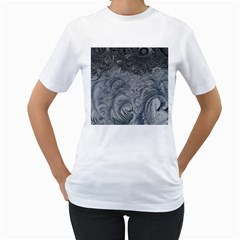 Abstract Art Decoration Design Women s T Shirt (white) (two Sided)