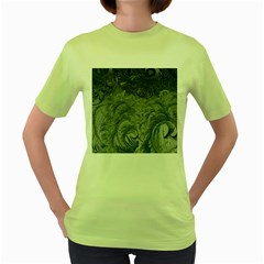 Abstract Art Decoration Design Women s Green T Shirt