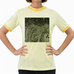 Abstract Art Decoration Design Women s Fitted Ringer T Shirts