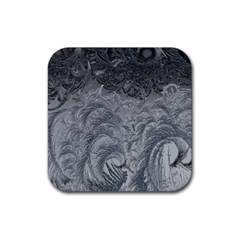 Abstract Art Decoration Design Rubber Square Coaster (4 Pack)