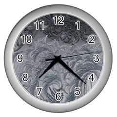 Abstract Art Decoration Design Wall Clocks (silver)