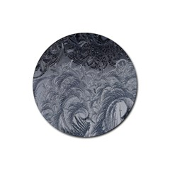 Abstract Art Decoration Design Rubber Round Coaster (4 Pack)
