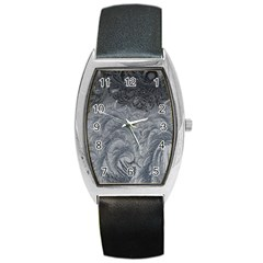 Abstract Art Decoration Design Barrel Style Metal Watch