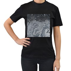 Abstract Art Decoration Design Women s T Shirt (black) (two Sided)