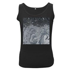 Abstract Art Decoration Design Women s Black Tank Top