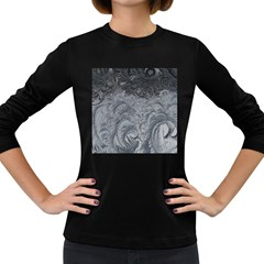 Abstract Art Decoration Design Women s Long Sleeve Dark T Shirts