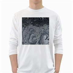 Abstract Art Decoration Design White Long Sleeve T Shirts