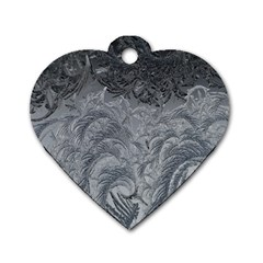 Abstract Art Decoration Design Dog Tag Heart (two Sides)